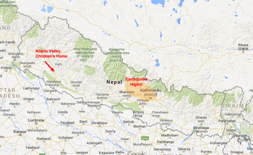 Nepal earthquake were safe blinknow underlying map courtesy of google maps gumiabroncs Image collections