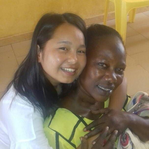 Nisha and her host mom