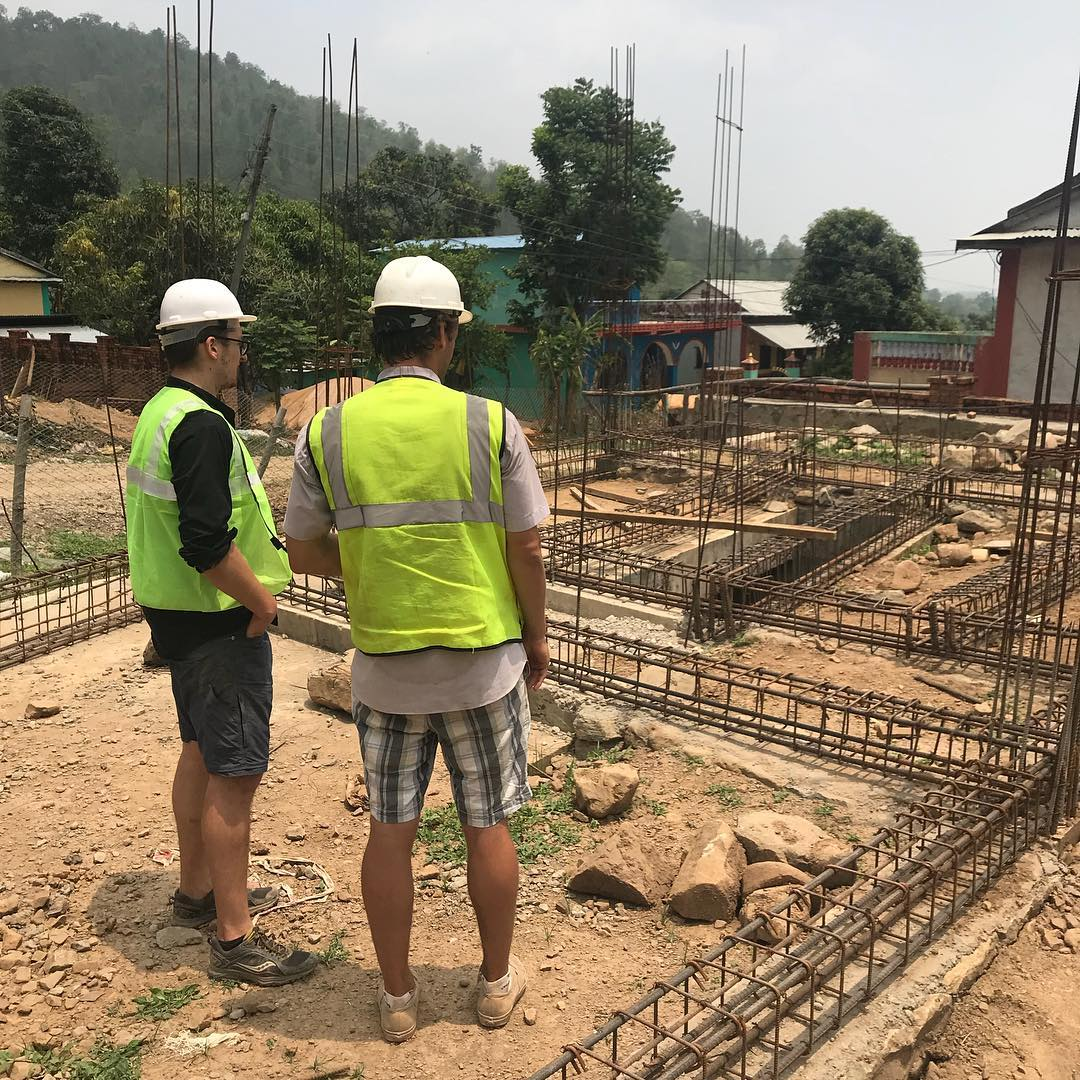 Chris and Luke on the site