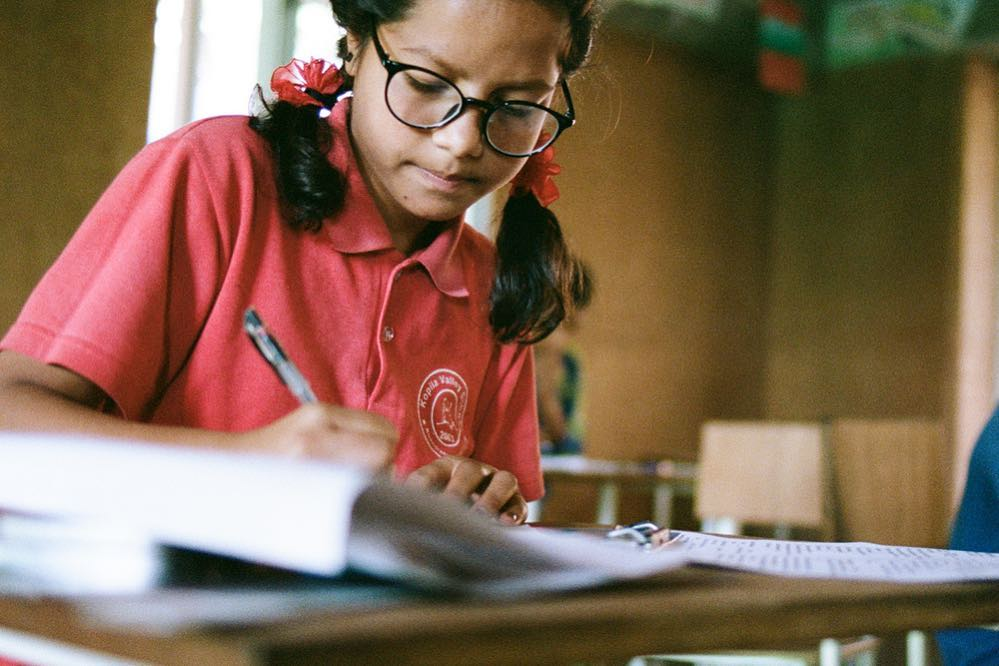 Studying hard at Kopila Valley School